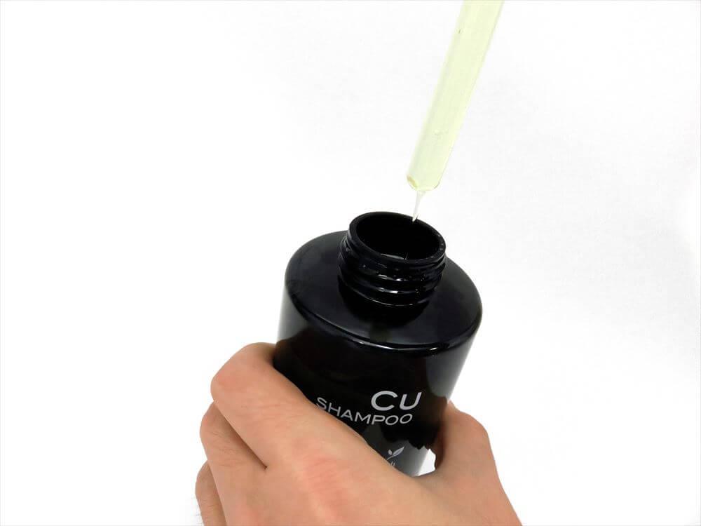 チャップアップシャンプー 液体の状態